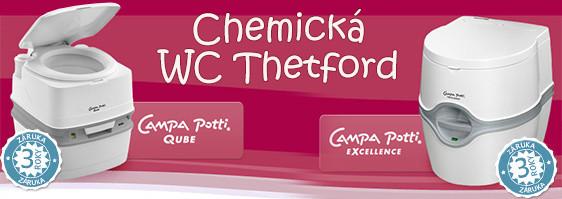 Skvělá chemická WC Thetford Campa Potti nabízíme všechny modely: Qube XG, Qube XGL, Excellence.