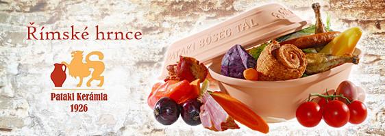 Římské hrnce Pataki Keramia jsou vysoce kvalitní pekáče z terakotové keramiky. Jsou s glazurou nebo bez glazury