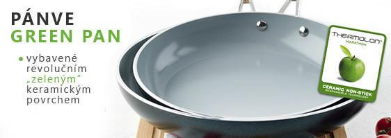 Keramické pánve Green Pan s mimořádně kvalitním keramickým povrchem, jejich výroba neškodí životnímu prostředí ani Vašemu zdraví.