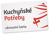 Věrnostní karta Kuchyňských Potřeb.
