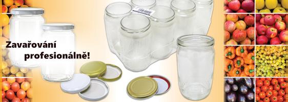 Široký výběr zavařovacích potřeb - zavařovací sklenice, víčka, hlavy, kleště...
