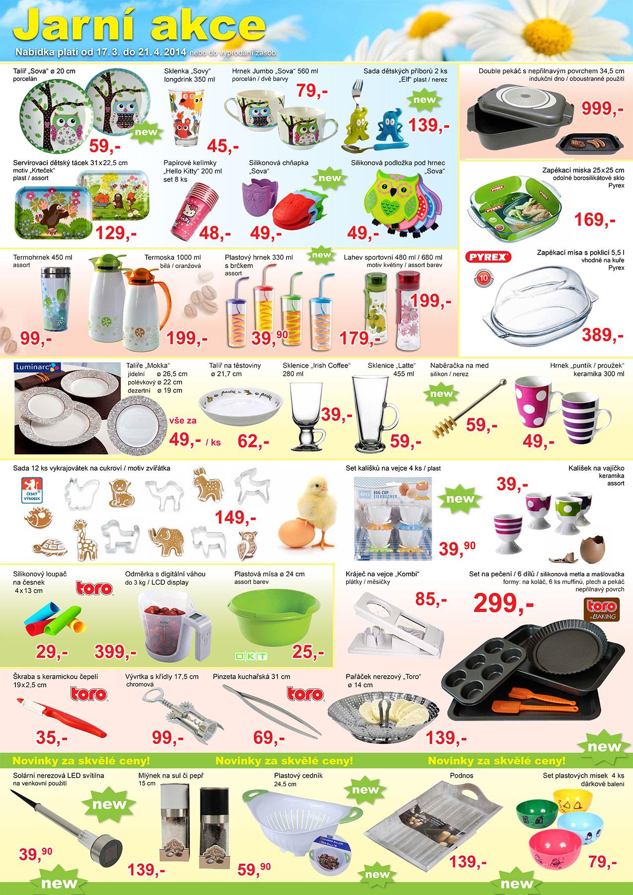 Jarní zboží v akci ceny od 25 Kč