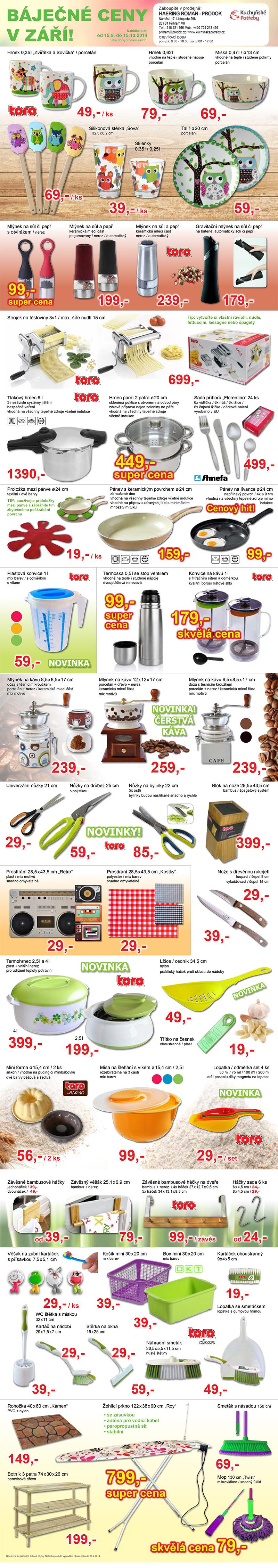 Nakupte zboží v akci značky Toro - levné kuchyňské potřeby